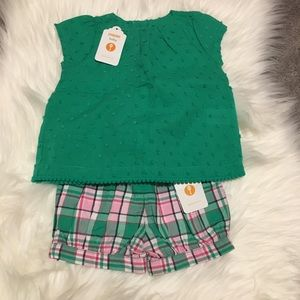 NWT Gymboree Baby Girl Top and Shorts
